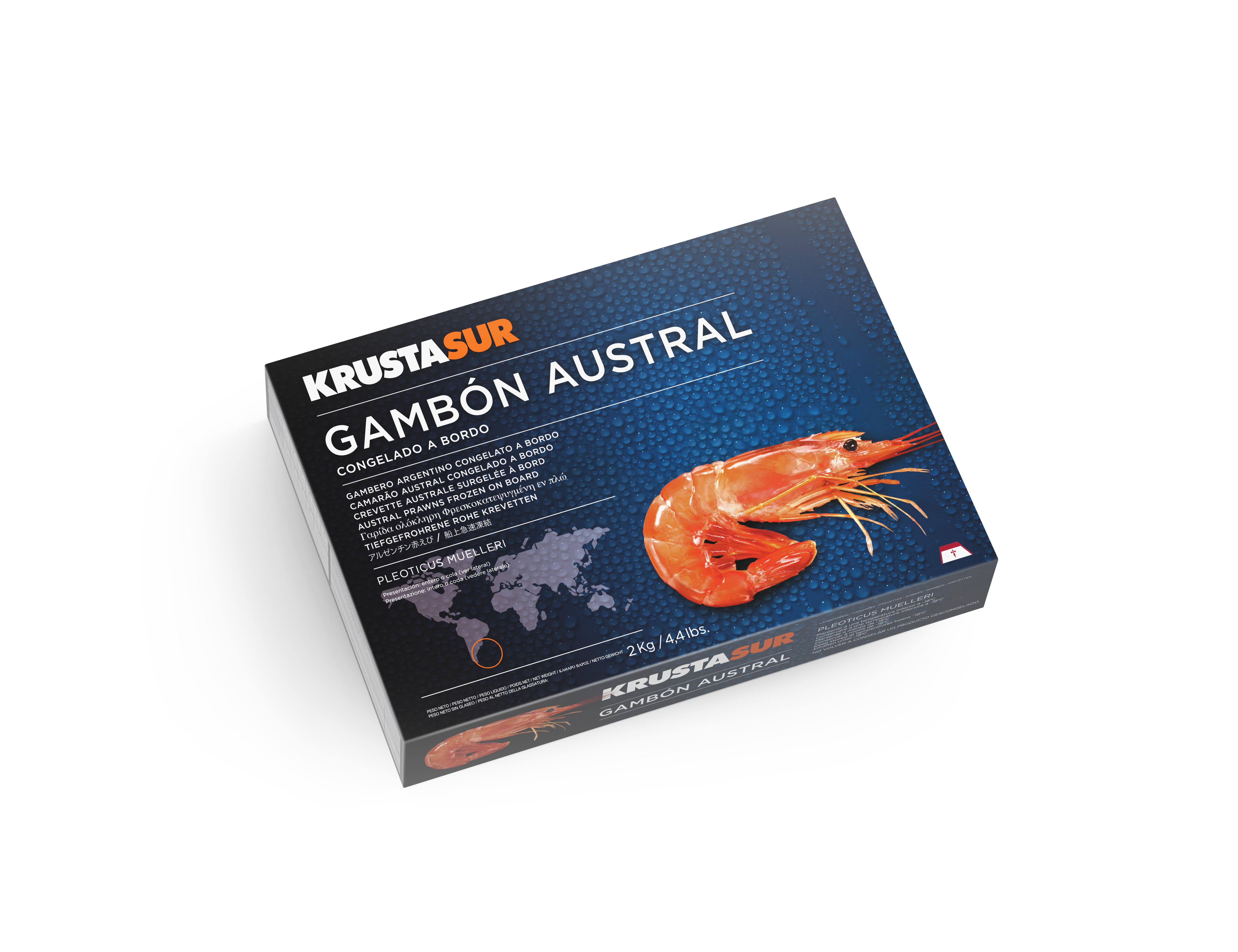 Krustasur HOSO seafrozen Argentine shrimp