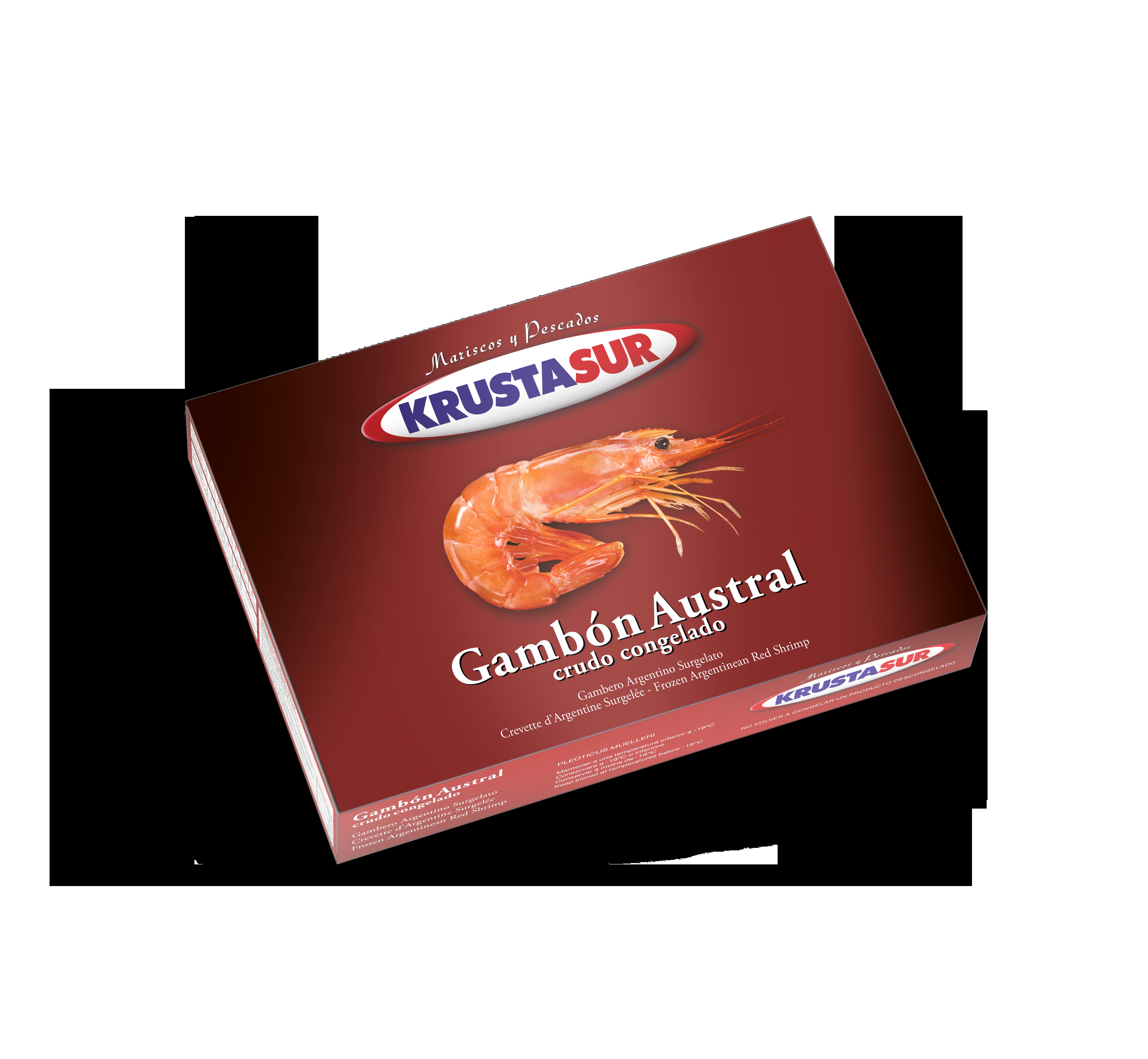 Krustasur land frozen red shrimp Image