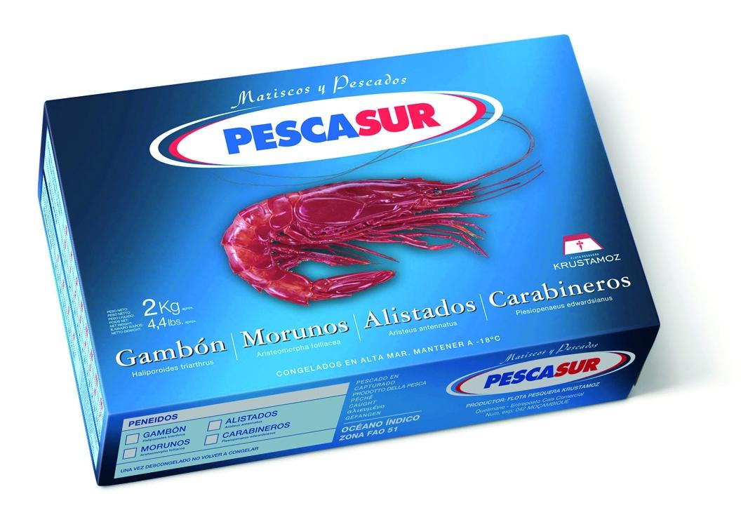 Krustasur scarlet shrimp (carabinero) Image