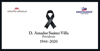 The Amasua Group and Krustagroup family say goodbye to their President Don Amador Suárez Villa